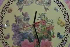 Reloj pintado en madera-6