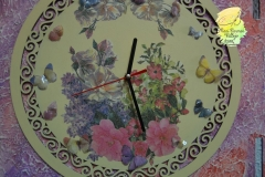 Reloj pintado en madera-9